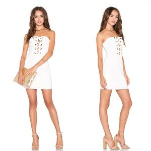 NWT NBD x REVOLVE Don't Stop Dress in White